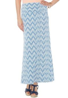 Cato Fashions Ruched Waist Printed Maxi Skirt #CatoFashions. I have those shoes!!!!!!!      :]