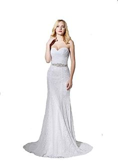 c1496237cf Guode Womens Mermaid Wedding Dresses WhiteIvory Lace Up Bridal Gowns For  2018 White 10     Click for Special Deals
