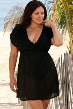 54596052226ff Beach Belle Black Chevron Plus Size Empire Tunic Women s Swimsuit Beach  Belle.  33.82 Black Chevron