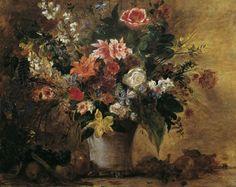 Eugène Delacroix, Blumenstillleben, um 1834 | ©  © Belvedere, Wien