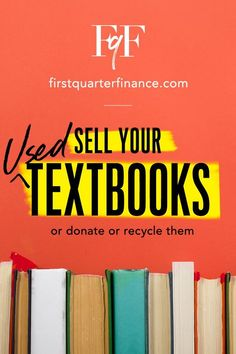 What to do with old textbooks? Here, we cover how to donate textbooks, recycle textbooks, and even sell textbooks. College Books Online, Used College Textbooks, Sell Your Textbooks, Where To Recycle, Where To Sell, Parents As Teachers, New Teachers, Extra Cash, Extra Money