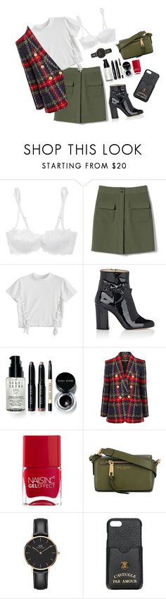 """#668"" by agostina-sanguinetti ❤ liked on Polyvore featuring L'Agent By Agent Provocateur, Banana Republic, Alexander White, Bobbi Brown Cosmetics, Balmain, Nails Inc., Marc Jacobs, Daniel Wellington and Gucci"