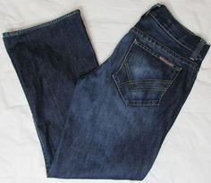 William Rast Billy Boot Cut Jeans Mid Rise 100% Cotton Made in USA sz 33 X 30 #WilliamRast #BootCut