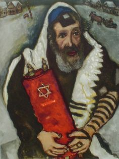 Rabbi With Torah by Marc Chagall.