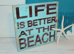 Beach Sign Life is Better Nautical and Nursery by justbeachyshop, $28.50