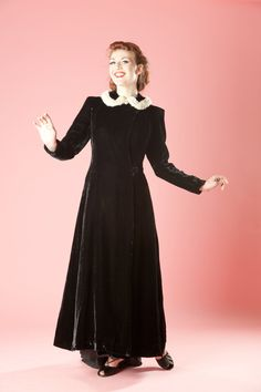 Vintage 1940s Coat Velvet Ermine Dressing Gown 1930s Old Hollywood