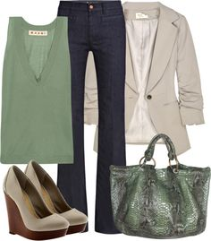 """""""Green and Browns"""" by styleofe on Polyvore"""
