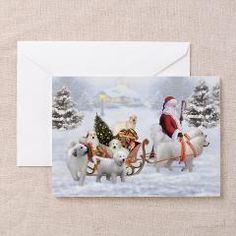 #Great Pyrenees #Christmas cards #Pyrs and Santa