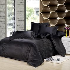White Duvet Cover Full Wholesale Black Silk Bedding Set Luxurious Bedding Silk Duvet Cover King/Queen/Full Silk Pillowcase Fitted Sheet Black Duvet Covers From Lbdapparel, $144.43| Dhgate.Com