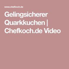 Gelingsicherer Quarkkuchen | Chefkoch.de Video