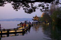 HANGZHOU Hangzhou, West Lake, Shanghai, China, Explore, Sunset, Sunsets, Porcelain, The Sunset