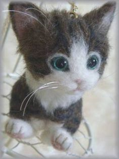 OOAK BEAR ◆Needle Felted CAT **Brown Tabby CAT** $87