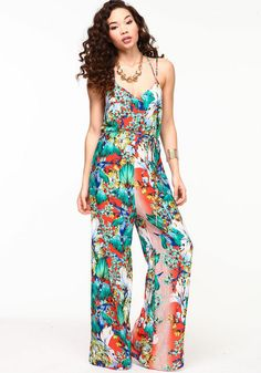 Shop Trendy Women's and Junior Clothing Floral Jumpsuit, Printed Jumpsuit, Junior Outfits, Outfits For Teens, Love Culture, Trendy Shoes, Cheap Clothes, Spring 2014, Latest Trends