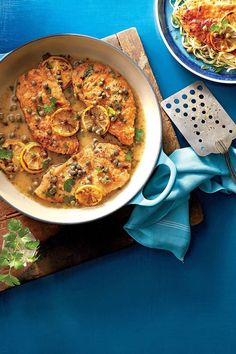 Cast-Iron Chicken Piccata | Because nothing ruins a good meal like a sink full of dishes. Chicken, the weeknight crowd-pleaser, is the star of these recipes that all use just one pot, pan, or skillet. From chili to jambalaya to pot pie—these easy recipes are anything but boring.