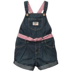Denim Shortalls | Baby Girl Overalls & Jumpers