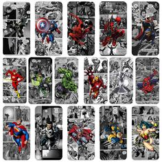 Marvel Superhero Comic book Strip iPhone Flip Case Cover iPhone 4s 5 5s 6 6Plus