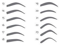 moldes de sobrancelhas para imprimir 3