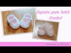 Como tejer zapaticos, escarpines crochet (ganchillo) para bebé – Parte 2 - YouTube