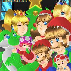 Super Mario Bros, Princess Peach, Nintendo, Christmas, Character, Xmas, Navidad, Noel, Natal