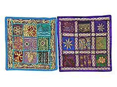 2 Vintage Cushion Covers - Purple Blue Bohemian Yoga Decor Shabby Chic Floor Pillow Covers Mogul Interior http://www.amazon.com/dp/B00VJRCOI4/ref=cm_sw_r_pi_dp_GxFhvb0XCDN8D