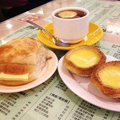 24 things to do in 24 hours in HK Honolulu Coffee, Pineapple Bun, Stuff To Do, Things To Do, Egg Tart, Dutch Recipes, Afternoon Tea, Coffee Shop, Hong Kong