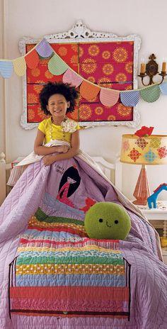 Princess in the Pea Quilt #kids #bedroom #girls