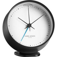 Henning Koppel HK CLOCK w. alarm, black/white, 10 cm found on Polyvore