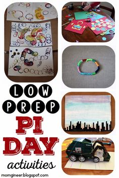 Pi Day Activities: Low prep Pi Day Fun! Circle art, circumference activity, bracelet, & more! | momgineer