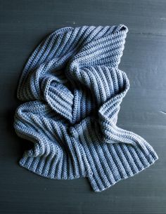 No-Purl Ribbed Scarf