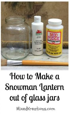 Don't throw out your jars, repurpose them in to cute home decor like this DIY Snowman Lantern. To make this DIY snowman lantern you will. Easy Christmas Crafts, Noel Christmas, Christmas Projects, Christmas Ornaments, Pinterest Christmas Crafts, Christmas Yard Art, Homemade Christmas Decorations, Pinterest Crafts, Dough Ornaments