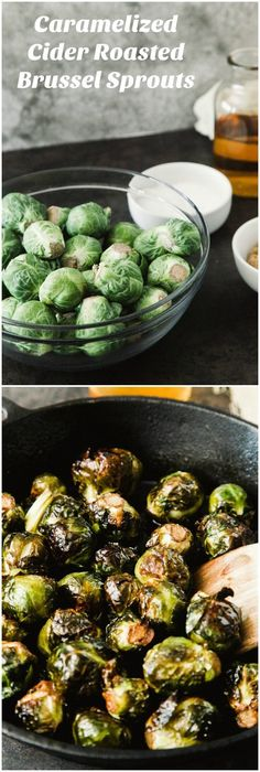 This roasted brussel sprouts dish has brown sugar and apple cider; it also does the impossible: bridges the gap between salad and dessert. via @diy_candy