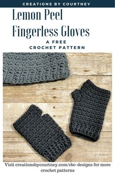 A free crochet pattern, the Lemon Peel Fingerless Gloves can be worked with your favorite worsted weight yarn to keep your hands warm for a chilly evening out or while working in an office that keeps the thermostat on 60  #crochet #freecrochetpattern #crochetpattern #fingerlessgloves