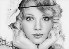 Taylor Swift Realistic Pencil Sketch