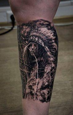 50 Mejores Imágenes De Tatuajes En La Pantorrilla Para Hombres En