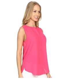Pleated Back Chevron Blouse Pink