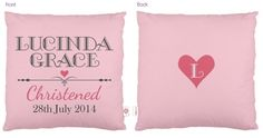 hardtofind. | Personalised Christening cushions (various designs)