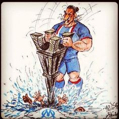 "Caricature : Zlatan ""massacre Marseille"" PSG-OM - http://www.actusports.fr/91161/caricature-zlatan-massacre-marseille-psg-om/"