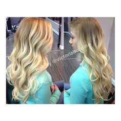 Balayage ombre by Victoria Buccino hair beauty salon curls blonde hair curly hair fashion love beauty hairstyles