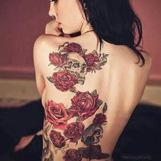 Rose back piece absolutley beautiful