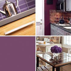 14 creative ways to decorate a kitchen with purple - Purple Kitchen Decorating
