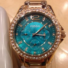 Fossil watches womens Fossil ladies fashion watch love this the colour is…