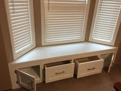 diy built in window seat with drawer and cabinet storage, closet, kitchen cabinets, kitchen design, storage ideas Bay Window Storage, Bay Window Benches, Window Seats With Storage, Window Seats Diy, Built In Storage, Window Seat Kitchen, Kitchen With Bay Window, Living Room With Bay Window, Storage Bench Seating