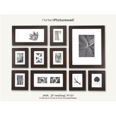 [deluxe wall gallery frame set], gallery wall frame kit, wall frame set with template Wood Picture Frames, Frames On Wall, Wood Frames, Black Frames, Black Photo Frames, Ikea Frames, Hanging Frames, Gallery Frame Set, Photo Wall Hanging