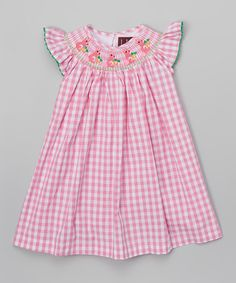 Blue gingham dress infant