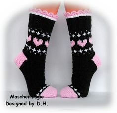 Knitting Wool, Knitting Stitches, Knitting Socks, Hand Knitting, Crochet Socks, Knit Crochet, Fair Isle Knitting Patterns, Wool Socks, Colorful Socks
