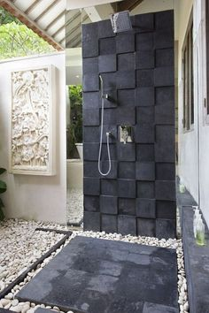 outside shower! Have always wanted one of these