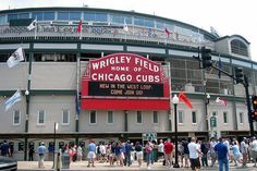 #WrigleyField.. My husband has been a Cubbie fan forever, through good seasons and bad...  Beautiful stadium with all the ivy...