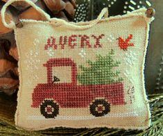 Avery's Little Red Truck~Cross Stitch Design