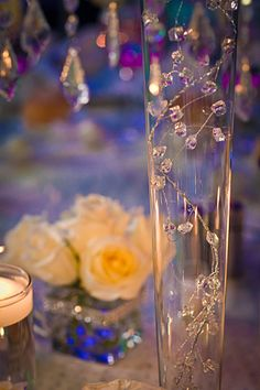 Lots of BLING WEDDING decor for sale.(Manzanitas, Chandeliers, Crystals, etc.) :  wedding white Vase2