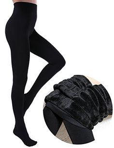 cffe45b59ce0 CHRLEISURE Women's Winter Thick Velvet Leggings Warm Soli... https://www